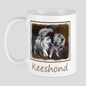 Keeshond Playtime 11 oz Ceramic Mug