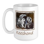Keeshond Playtime 15 oz Ceramic Large Mug