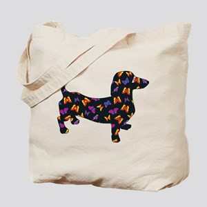 Butterfly Dachshund Tote Bag