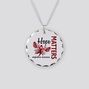 Hope Matters 1 Amyloidosis Necklace Circle Charm