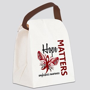 Hope Matters 1 Amyloidosis Canvas Lunch Bag