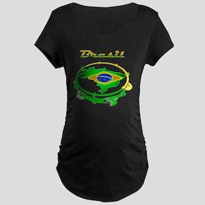 Pandeiro - Vintage Maternity Dark T-Shirt
