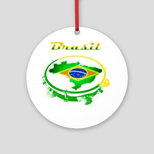 Pandeiro - Vintage Round Ornament