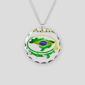 Pandeiro - Vintage Necklace Circle Charm