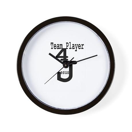 Team Player 4 Jesus Wall Clock