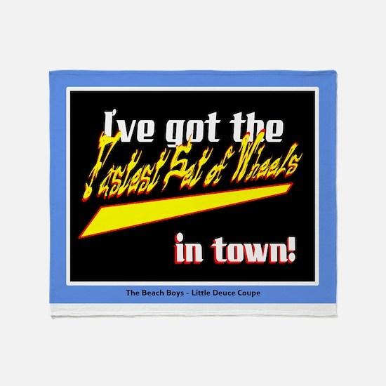 Fastest Set Of Wheels-The Beach Boys/t-shirt Throw