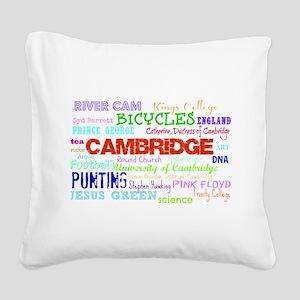 Cambridge Typography Square Canvas Pillow