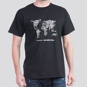 Typography World Map T-Shirt
