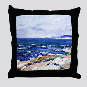 Carmel Coast, painting by Guy Rose Throw Pillow