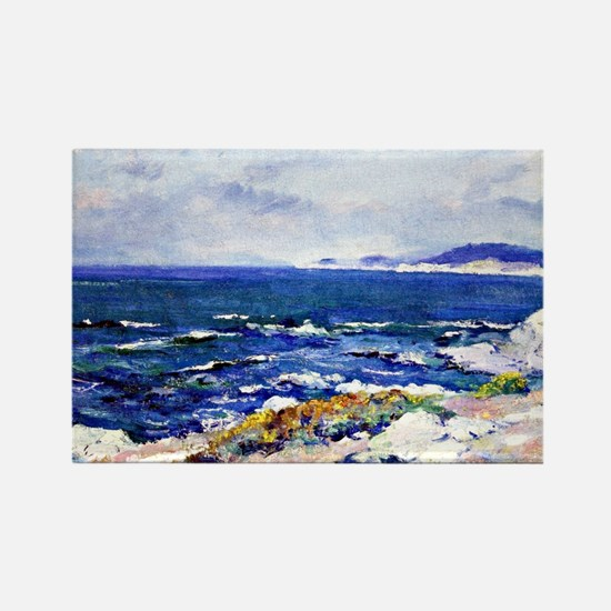 Carmel Coast, painting by Guy Ros Rectangle Magnet
