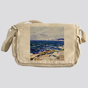 Carmel Coast, painting by Guy Rose Messenger Bag