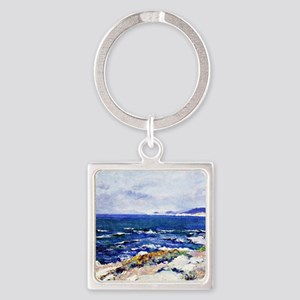 Carmel Coast, painting by Guy Rose Square Keychain
