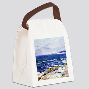 Carmel Coast, painting by Guy Ros Canvas Lunch Bag