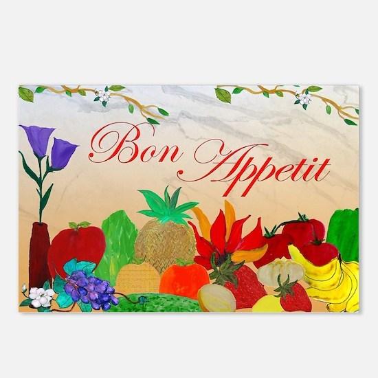 Bon Appetit Postcards (Package of 8)