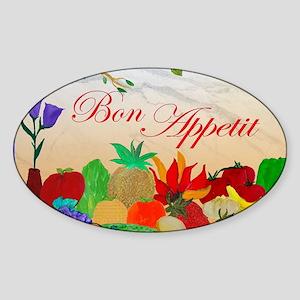 Bon Appetit Sticker (Oval)