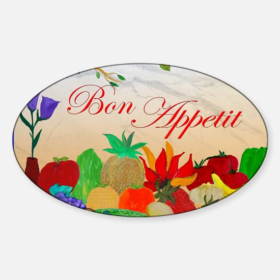 Bon Appetit Sticker (Oval)