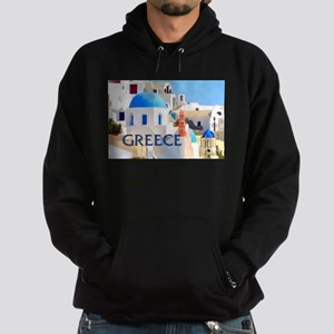 Blinding White Buildings in Greece Hoodie