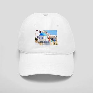 Blinding White Buildings in Greece Baseball Cap