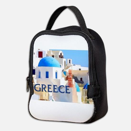 Blinding White Buildings in Greece Neoprene Lunch
