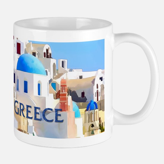 Blinding White Buildings in Greece Mugs