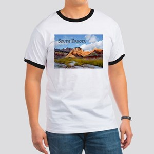 Mountains Sky in the Badlands National Park Sout T