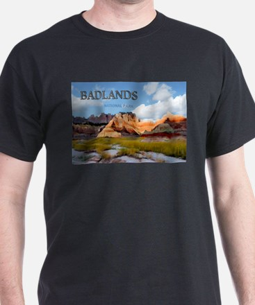Mountains Sky in the Badlands National Park copy T