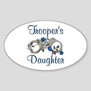 Trooper's Daughter Oval Sticker