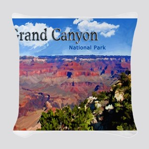 Grand Canyon NAtional Park Poster Woven Throw Pill