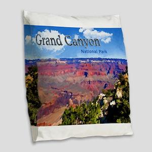 Grand Canyon NAtional Park Poster Burlap Throw Pil