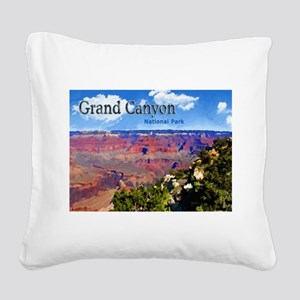 Grand Canyon NAtional Park Poster Square Canvas Pi