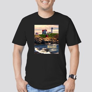 Cape Neddick Lighthouse Maine at Sunset T-Shirt