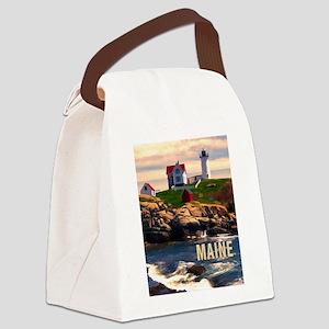 Cape Neddick Lighthouse Maine at Sunset Canvas Lun