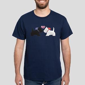 Westie Dog Art Dark T-Shirt