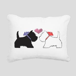 Westie Dog Art Rectangular Canvas Pillow