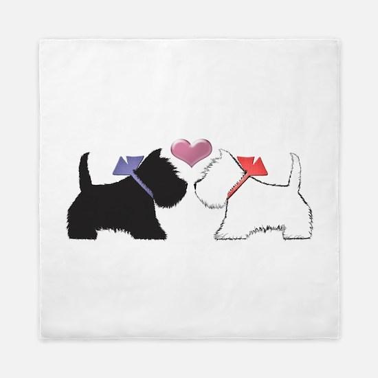 Westie Dog Art Queen Duvet