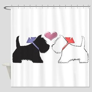 Westie Dog Art Shower Curtain