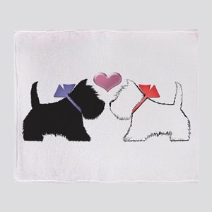 Westie Dog Art Throw Blanket