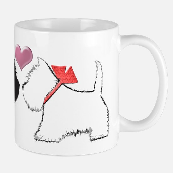 Westie Dog Art Mugs