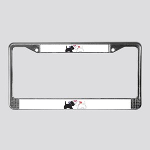 Westie Dog Art License Plate Frame