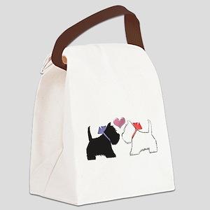 Westie Dog Art Canvas Lunch Bag