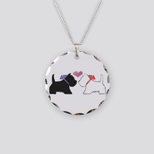 Westie Dog Art Necklace Circle Charm