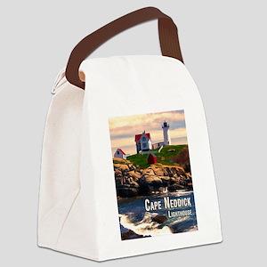 Cape Neddick Lighthouse at Sunset Canvas Lunch Bag