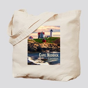 Cape Neddick Lighthouse at Sunset Tote Bag