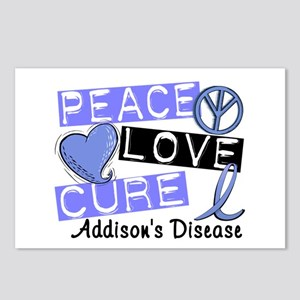 Peace Love Cure 1 Addison Postcards (Package of 8)
