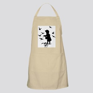Girl Feeding Birds Apron