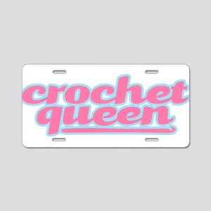 They Call Her the Crochet Queen Aluminum License P