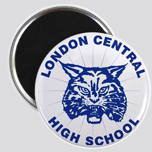 LCHS Bobcat with Round Text Magnet