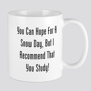 You Can Hope For A Snow Day, But Id Study! Mugs