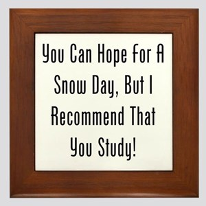 You Can Hope For A Snow Day, But Id Study! Framed
