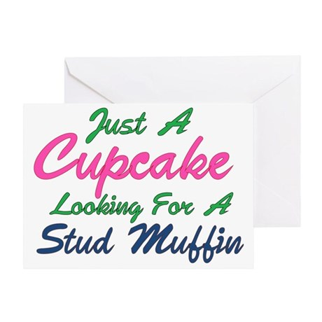 Cupcake Looking for Stud Greeting Card